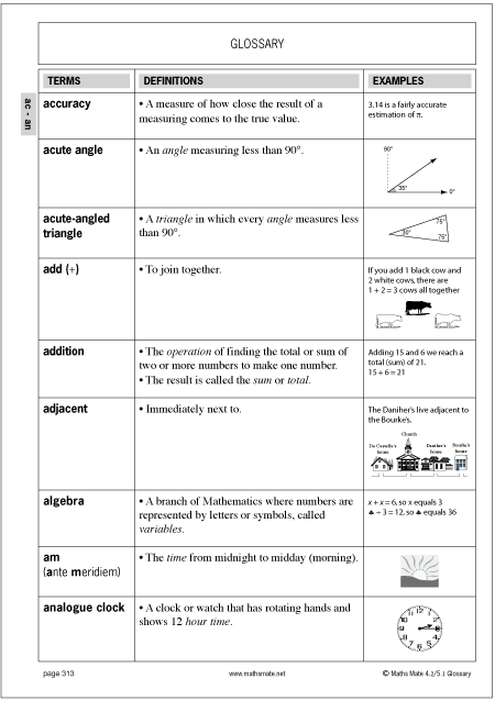 Printables Math Mates Worksheets about maths mate skill builders contain a glossary of important terms that will provide instant help when students present with difficulties